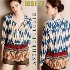 Anthropologie MAEVE Rohanna Blouse Size 10 Sheer